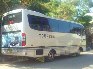Group tour on Flores Island